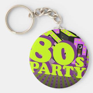 Retro Party Basic Round Button Keychain