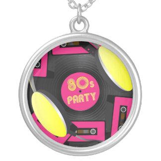 Retro Party Round Pendant Necklace