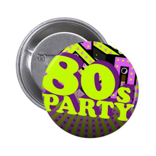 Retro Party Pinback Button