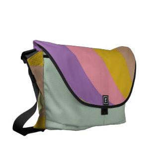 Retro pastel colors waves messenger bags