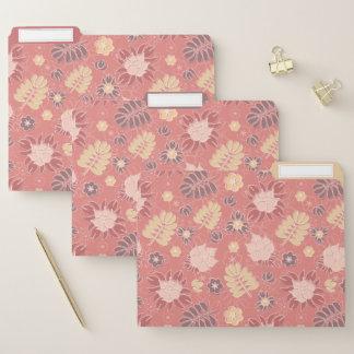 Retro Pastel Floral in Pink File Folder