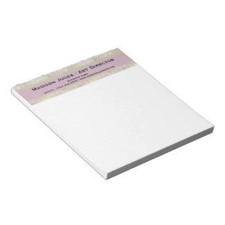 Retro Pastel Pattern Notepad