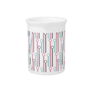 Retro Pastel Pattern Swizzle Sticks Beverage Pitchers