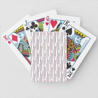 Retro Pastel Pattern Swizzle Sticks Bicycle Playing Cards