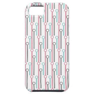 Retro Pastel Pattern Swizzle Sticks iPhone SE/5/5s Case