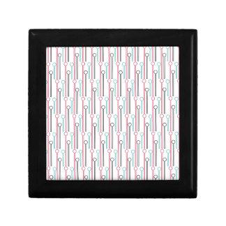 Retro Pastel Pattern Swizzle Sticks Jewelry Box