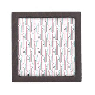 Retro Pastel Pattern Swizzle Sticks Keepsake Box
