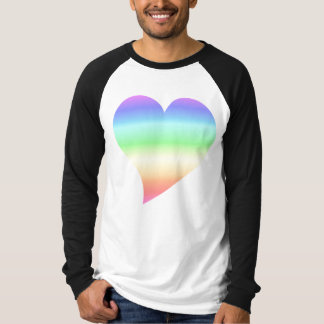 Retro Pastel Rainbow Heart T-Shirt