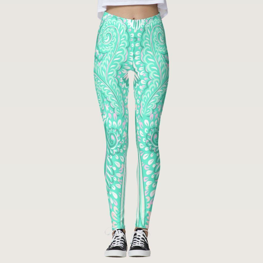 Retro pastel sea green pattern