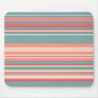 Retro Pastel Stripes Mouse Pad