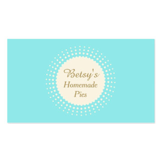 Retro Pastry Dessert Chef Catering Baker Turquoise Business Card Templates