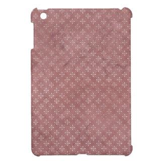 retro patchwork mauve pattern iPad mini cases