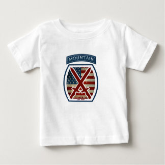 Retro Patriotic 10th Mountain Division Baby T-Shirt