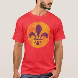 Retro Patriotic St Louis Flag Fleur De Lis T-Shirt