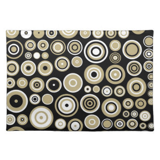 Retro Pattern Abstract Art Placemat