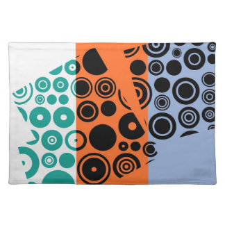 Retro Pattern Abstract Art Placemats