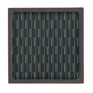 Retro Pattern Black Gold Swizzle Sticks Gift Box