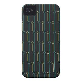 Retro Pattern Black Gold Swizzle Sticks iPhone 4 Case-Mate Case