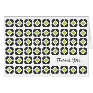 Retro Pattern blank note card-lime Card