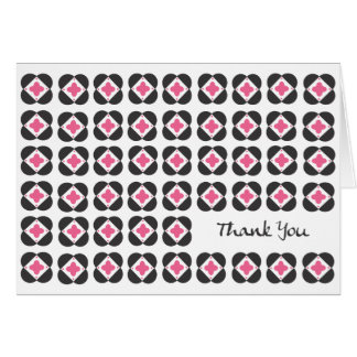 Retro Pattern blank note card-pink Card