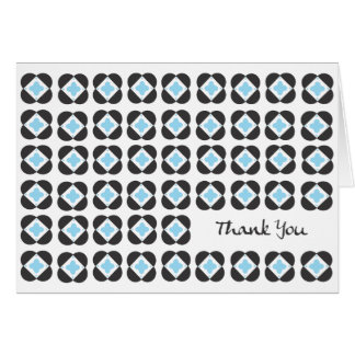 Retro Pattern blank note card-turquoise Card