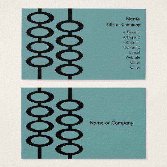 Retro Pattern Business Card - Blue/Black