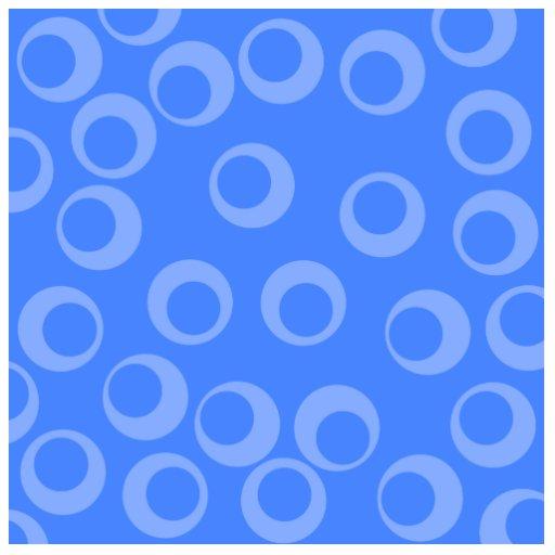 Retro pattern. Circle design in blue. Cut Out