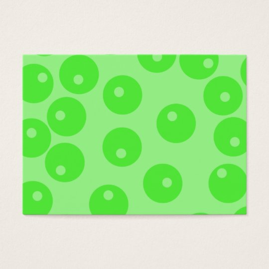 Retro pattern. Circle design in green. Business Card