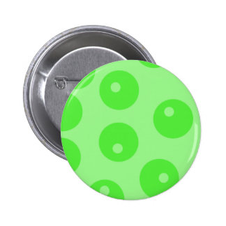 Retro pattern. Circle design in green. 2 Inch Round Button
