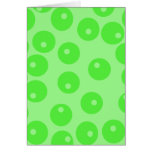 Retro pattern. Circle design in green. Stationery Note Card