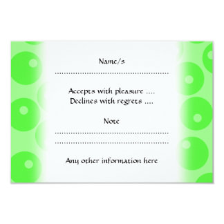 Retro pattern. Circle design in green. Card