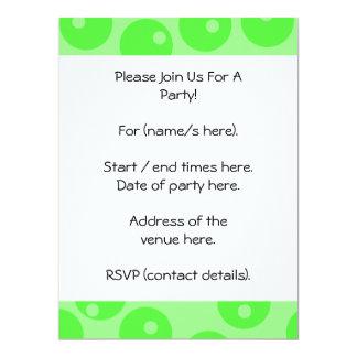"""Retro pattern. Circle design in green. 6.5"""" X 8.75"""" Invitation Card"""