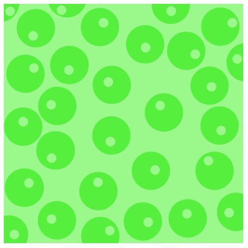 Retro pattern. Circle design in green. Statuette