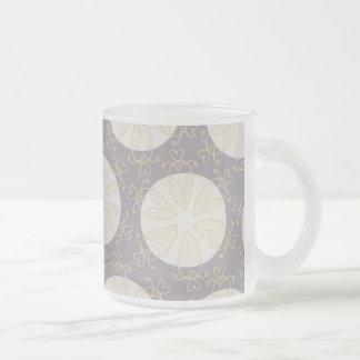 Retro Pattern - Customize Frosted Glass Coffee Mug