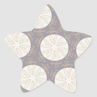 Retro Pattern - Customize Star Sticker