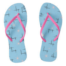 Retro Pattern Flip Flops