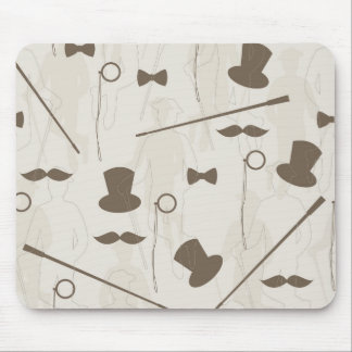 Retro pattern for man 2 mouse pad
