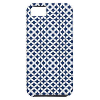 Retro Pattern in Blue and White iPhone 5/5S Case