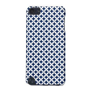 Retro Pattern in Blue and White iPod Touch (5th Generation) Cases