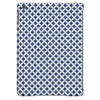 Retro Pattern in Blue and White iPad Air Cover