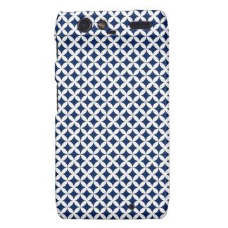 Retro Pattern in Blue and White Motorola Droid RAZR Cover