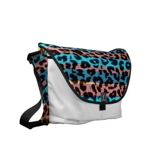 Retro pattern leopard fur abstract texture commuter bag