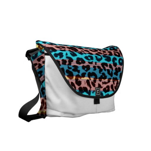 Retro pattern leopard fur abstract texture commuter bag