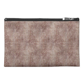 Retro Pattern Mauve Grunge Travel Accessory Bags