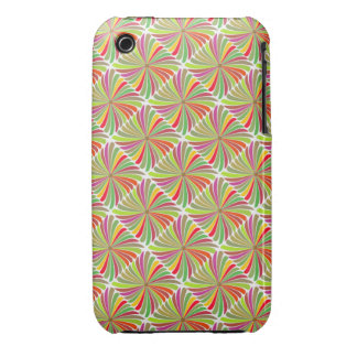 RETRO PATTERN ON WHITE iPhone 3 CASE