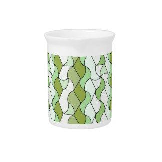 """retro pattern """"Owen"""", green Beverage Pitchers"""
