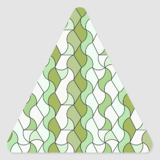 "retro pattern ""Owen"", green Triangle Sticker"