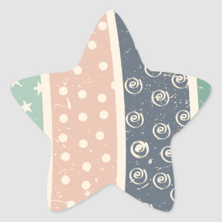 retro-pattern.png pegatina en forma de estrella