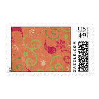 Retro Pattern Postage