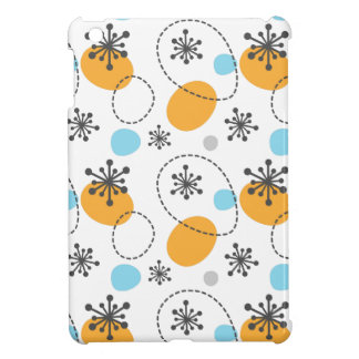 Retro pattern with colorful dots abstract flowers case for the iPad mini
